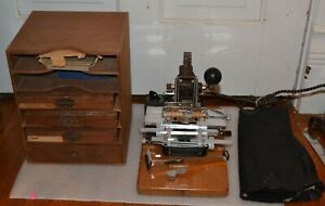 Vintage Kingsley Gold Stamping Machine Hot Foil Stamping Attachments Manual