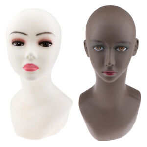 Life Size Pvc Female Mannequin Head Bust Set Wig Display Stand Manikin Model