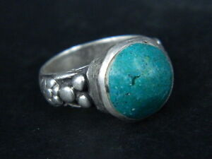 Antique Silver Ring With Stone Post Medieval 1800 Ad Stc190 Wearable