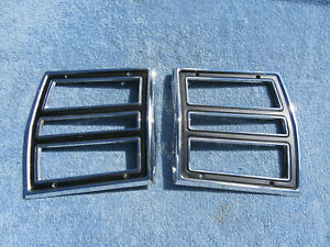 1968 Dodge Dart Lh Rh Tail Light Bezels