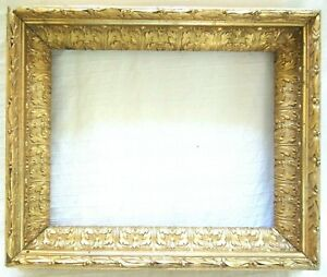 Deep Antique Fits 8 X 10 Gold Gilt Picture Frame Wood Gesso Ornate Fine Art