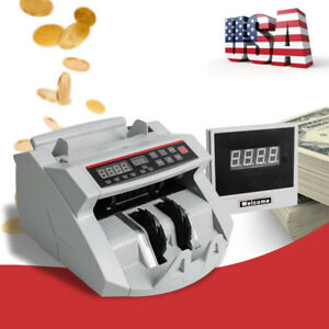 Automatic Money Bill Cash Currency Counter Counting Machine Counterfeit Detector