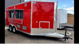 Brand New Huge 16x8 5 concession food Trailer Catering Passed Pre inspection