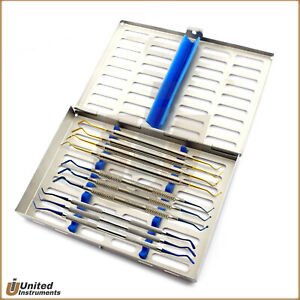 10pcs Dental Composite Contouring Filling Instruments Titanium Coated Cassette