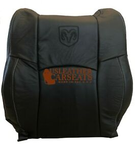 09 12 Dodge Ram Laramie 1500 Passenger Lean Back Leather Seat Cover Dark Gray