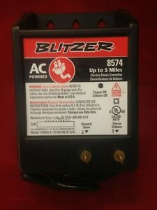 Blitzer Ac Powered Electric Fence Controller 8574 Up To 5 Miles