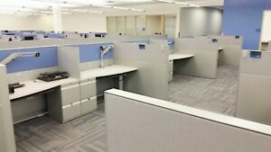 Teknion Leverage Call Center Cubicles
