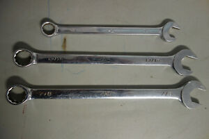 Mac Tools Set Of 3 Combination Wrenches Sae 7 8 5 8 13 16