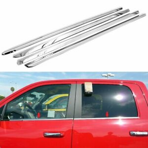 For 2009 2018 Dodge Ram 1500 Crew Cab Polished Stainless Steel Window Sills Trim