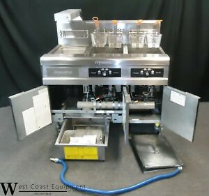 Commercial Gas Fryer Frymaster 2 Well W Filter System 90 Day Warranty
