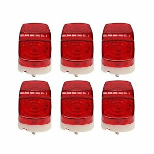 6pcs Led Trailer Marker Light 10 Diodes Red Double Bullseye Clearance