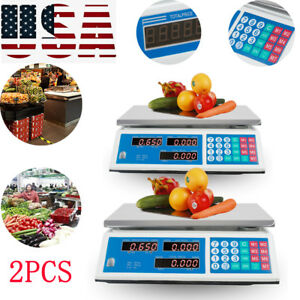 2xdigital Weight Scale Price Computing Retail Food Meat Scales Count Machine Us