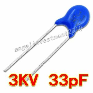 New High Voltage Ceramic Capacitor 3kv33j 3000v 33pf