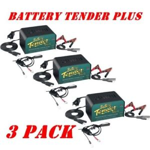 Battery Tender Plus 12v For Motorcycle Car Truck Battery Maintainer Charger 3 Pk