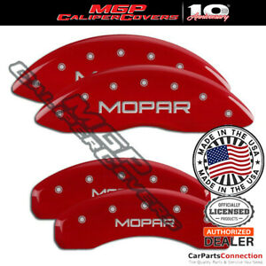 Mgp Caliper Brake Cover Red 42020smoprd Front Rear For Jeep Grand Cherokee 18 19