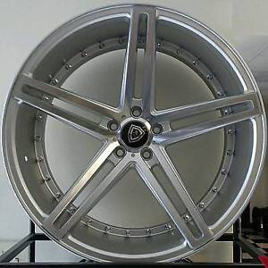 4 22x9 Marquee M 5334 5x115 Silver Machined Wheels 15mm Fits Chrysler 300