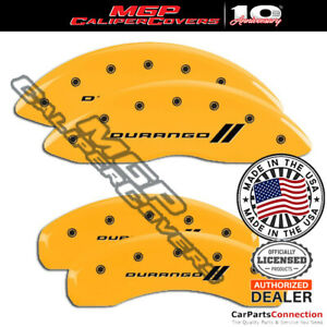Mgp Caliper Brake Cover Yellow 12204sdgoyl Front Rear For Dodge Durango 18 19
