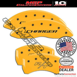 Mgp Caliper Brake Cover Yellow 12001schryl Front Rear For Dodge Challenger 07 08