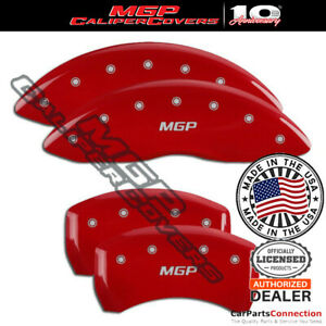 Mgp Caliper Brake Cover Red 15062smgprd Front Rear For Audi A4 2007 2008