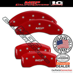 Mgp Caliper Brake Cover Red 15129smgprd Front Rear For Audi A4 2007 2008