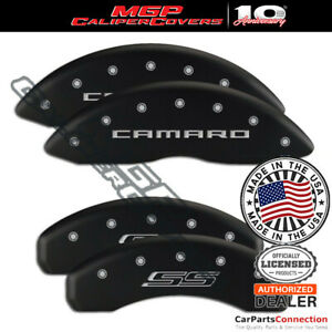 Mgp Caliper Brake Cover Matte Black 14036scs5mb F R For Chevy Camaro 14 15