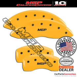 Mgp Caliper Brake Cover Yellow 23198smgpyl Front Rear For Mercedes C350 13 14