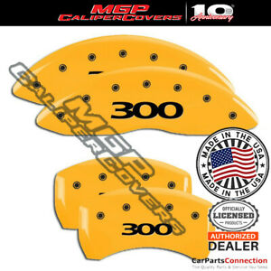 Mgp Caliper Brake Cover Yellow 32020s300yl Front Rear For Chrysler 300 2018 2019