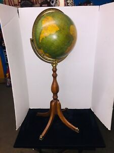 Antique Crams World Globe On Stand 1930 S Or Early 1940 S 12 Terrestrial Globe