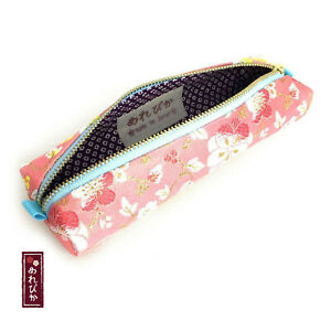 Handmade Pencil Case Pink Japanese Pink Brocade Traditional Pen Gift F s 02 05
