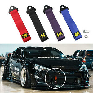 Car Racing Tow Towing Strap High Strength Sports Front Rear Bumper Hauling Hook