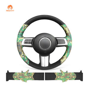 Diy Camouflage Black Suede Leather Steering Wheel Cover For Mazda Mx 5 Rx 8 Cx 7