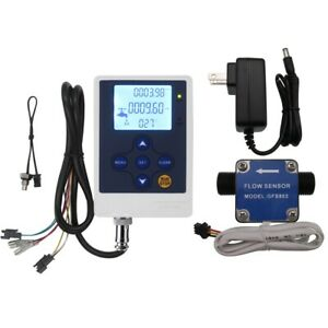 G1 2 Digital Lcd Fuel Flow Control Meter Oil Gasoline Gear Counter Diesel Milk