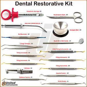 Dental Lab Restoration Procedure Tools Kit Composite Cavity Filling Instruments