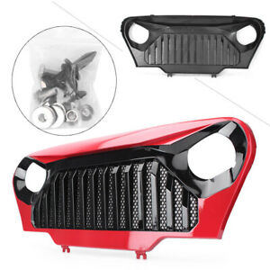 Front Mesh Grille Gladiator Grill Abs For Jeep Wrangler Tj 1997 2006 Black red