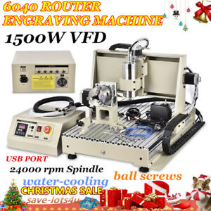 Usb 4axis Cnc Router 6040 Engraver Machine Mill Drill Woodworking 3d Carve 1 5kw
