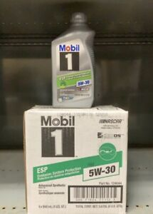 Mobil 1 124044 Esp Formula Engine Oil 5w30 1 Quart Bottles Set Of 6