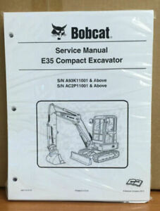 Bobcat E35 Compact Excavator Service Manual Shop Repair Book Part 6987276