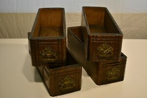 Set Of 4 Antique Vintage Treadle Sewing Machine Cabinet Drawers