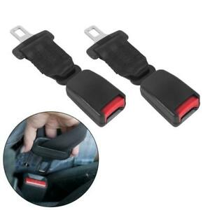 2 Pcs 7 Inch Car Auto Seat Safety Belt Extender Extension Buckle Retractable