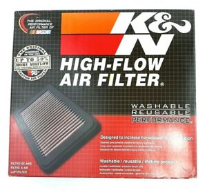 K n High flow Air Filter 33 2296 Washable Reuseable Performance Lifetime Product