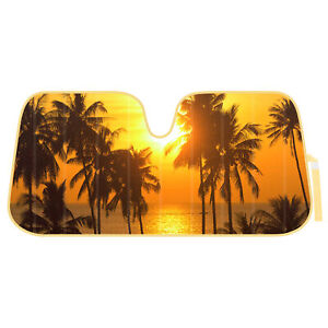 Auto Sun Shade Sunset Beach Front Window Windshield Protector For Car Truck Suv