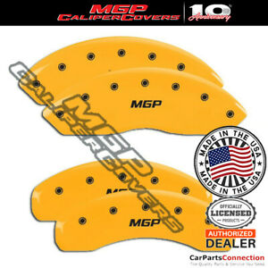 Mgp Caliper Brake Cover Yellow 15217smgpyl Front Rear For Audi A6 Quattro 10 11
