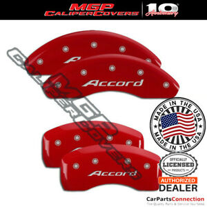 Mgp Caliper Brake Cover Red 20214saccrd Front Rear For Honda Accord 2016 2017