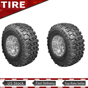 2x New Lt37x12 50r16 5 124q Mud Terrain Tyre Super Swamper Ply Tires 320 80 16 5