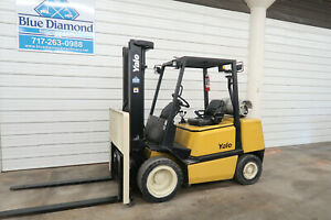 Yale Glp065 6 500 Pneumatic Forklift Lp Gas Three Stage S s Nissan Toyota