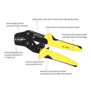 Meterk Wire Crimpers Ratcheting Bootlace Ferrule Tool Cord End Terminals B3g8