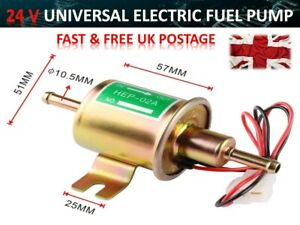 Universal 24v Electric Fuel Pump Gas Diesel Inline Electric Fuel Pump Kit
