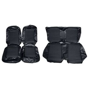 1966 Ford Mustang Fastback Standard Black Front Rear Seat Covers 67942 New
