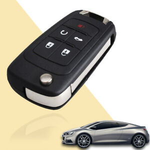 Car 5 Buttons Flip Remote Key Fob Case Fold Shell For Chevrolet Camaro Equinox
