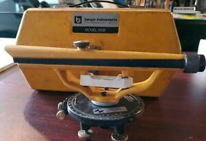 Berger Instruments Model 190b Surveying Transit Level Scope W Hard Case